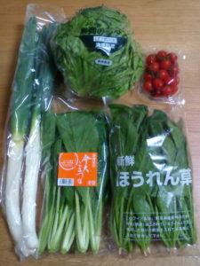 実際に届いた野菜詰め合わせの写真です。